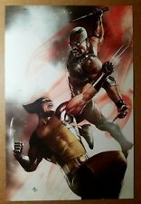 Wolverine Vs Blade Vampire Hunter Marvel Comics Poster by Adi Granov