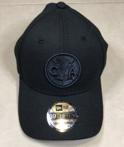NEW ERA 39THIRTY CLUB AMERICA CLUB FLEX Blackout HAT Sz S-M Small Medium Mexico