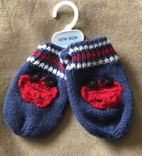 BNWT George Baby Boys Blue Mittens. Onesize 3-6 Months