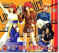 Bandai Lupin The third 3rd Fujiko Mine Collection Gashapon Figure Set of 5 HGIF