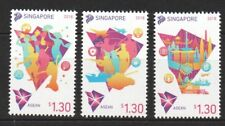 SINGAPORE 2018 CHAIRMANSHIP FOR ASEAN COMMUNITY COMP. SET OF 3 STAMPS IN MINT