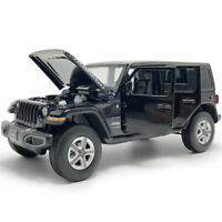 1:32 Jeep Wrangler Sahara Rubicon SUV Model Car Diecast Toy Vehicle Black Gift