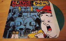 Huevos Rancheros - Dig in! LP Vinyl Album Original 1995 GREEN