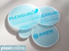 Plexiglas® Zuschnitt rund klar Deckel-Scheiben  Ø 50 - 1000 mm 3,4,5,6,8,10mmNEU