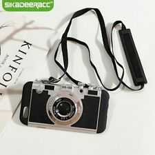 Phone Case Vintage 3D Camera Retro Mobile Back Cover Skin Strap Accessories Hot