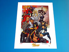 X-Women United Lithograph Signed by Salvador Larroca Limited to 350 X-Men Marvel