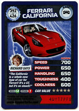 Ferrari California #392 Top Gear Turbo Challenge Rare Trade Card (C362)