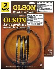 "Olson Band Saw Blades 56-1/8"" inch x 1/4"", 6TPI for Delta 28-180, 28-185 (2)"