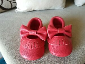 Baby Girl Shoes Size 6-12 Months RED Faux Leather  NWOT Just in for Christmas!