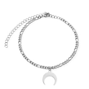 Silver Moon anklet bracelet for ankle leg for women tag charms new summer A8