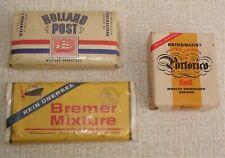 3x Pfeifentabak  um 1975 -  Portorico / Bremer Mixture / Holland Post versiegelt