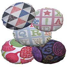 Flat Round Shape Cover*A-Grade Cotton Canvas Floor Seat Chair Cushion Case*LL6