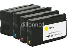 4 pack 952XL Ink for HP Officejet Pro 7740 8210 8216 8218 8710 8714 8715 8716