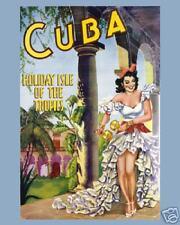 CUBA Vintage Travel Art  Ad Poster '30s? 16X20  ETP002