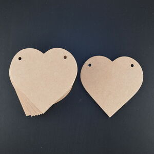 WOODEN BUNTING LOVE HEARTS CRAFT SHAPES 3MM MDF 115MM WIDE X 10