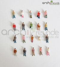 100 x Modèle Debout Assis Figurines Menschen Peint à la main 1:300 Voie étroite