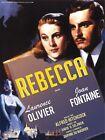 Affiche 120x160cm REBECCA (1940) Hitchcock - Joan Fontaine, Cooper R2008 NEUVE #