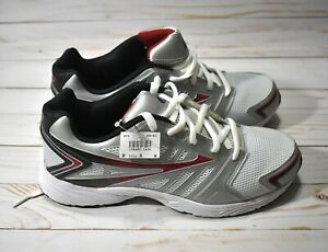 NEW MENS CROSS TREKKERS WHITE RUNNING ATHLETIC SHUFFLE SHOES SNEAKERS SIZE 8 NWT