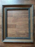 BEAUTIFUL LARGE ANTIQUE VINTAGE SOLID WOOD TWO TONE THICK FRAME HOLDS 11x14