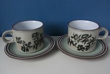 Stoneware Hornsea Pottery Cups & Saucers