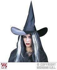 Sombrero de bruja con alambre, Bruja Negro Mujeres Carnaval, Halloween