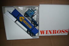 1990 Werner Enterprises Winross Diecast Flat Bed Trailer Truck With Canvas load