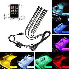 4x LED RGB Innenraumbeleuchtung Fußraumbeleuchtung Lichtleiste USB Auto Licht