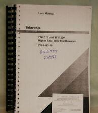 Tektronix TDS210 & TDS220 Digital Real-Time Oscilloscope User Manual Photocopy