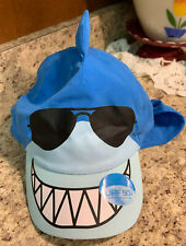 Toddler Summer Sun Protection Shark Hat Boys Ear Neck Sunproof Cap Beach Hat