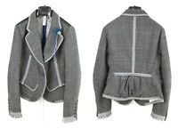 Womens HIGH USE by Claire Campbell Wool Blazer Jacket Grey Size IT46 / UK14