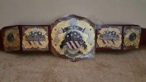 IWGP UNITED STATES Championship Wrestling Belt Replica 2MM Metal Plates Adults