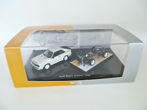 MINICHAMPS 'AUDI SPORT QUATTRO 1985'. CAR & CHASSIS SET. 1:43. MIB/BOXED.