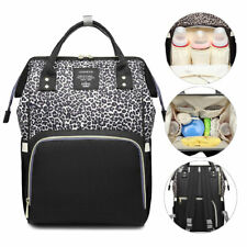 Diaper Bag Backpack Leopard Maternity Nappy Baby Bag Organizer Large Waterproof