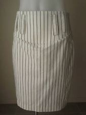 Viscose Straight, Pencil Hand-wash Only Striped Skirts for Women