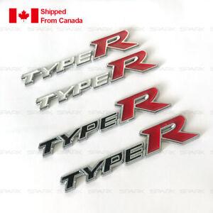 SMALL 2PCS TYPE R Metal Emblem Logo Sticker for HONDA CIVIC ACCORD CRV etc