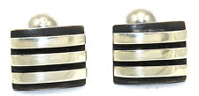 RARE Vintage SAN DIEGO Modernist JAMES PARKER Sterling Silver Cufflinks SIGNED!