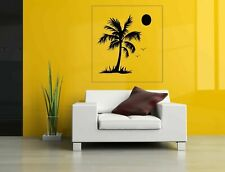 Wall Art Vinyl Sticker Room Decal Mural Decor Palms Tree Beach Sun Birds bo2341