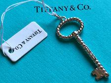 Tiffany & Co Tiffany Keys Sterling Silver twisted OVAL KEY pendant charm ITALY