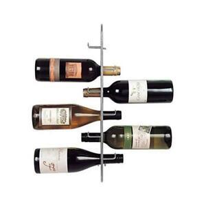 Metal Wine Rack Storage Holder - Sloane & Ebury - Navarre Wall Mounted 6 Bottle