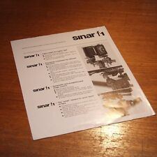 BROCHURE for SINAR F1 monorail camera & 01/90 1990 System News