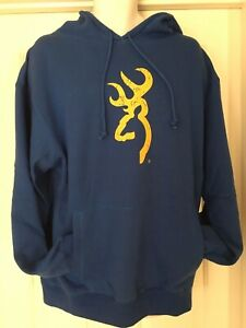 Browning Rugged Outdoor Apparel Mens Hoodie Olympian Blue Size XLarge