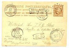 DUTCH INDIES-1880 =NED INDIE VIA BRINDISI =( R 71 ) PS-98- RS=TEMANGGOENG=>>>>>