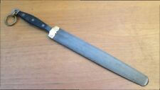 FINE Antique F. DICK Germany Balkan Chef Knife Sharpening Steel w/Brass Mounts