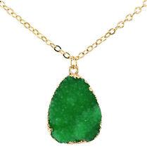 Natural Quartz Crystal Stone Point Chakra Gemstone Pendant Healing Necklace Gift