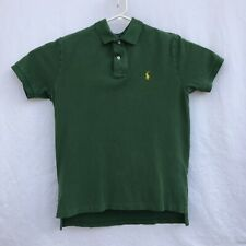 Mens Ralph Lauren Size Medium Classic Fit Polo Horse Rugby S/S Shirt Green
