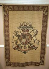Stunning Vintage Ornate Wall Hanging Tapestry -genuine European Loom -Very Large