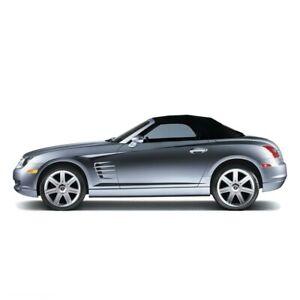 Chrysler Crossfire Convertible Top & Heated window Black Twillfast II 2004-2008