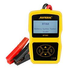 Autool BT-360 12V Car Charging Battery System Tester Vehicle Cranking Analyzer