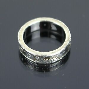 GUCCI Logos MADE IN ITALY BY Gucci Band Ring Sterling Silver 925 Size 4
