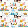 Disney Mickey Minnie Pooh Tsum Tsum Travel 100% Cotton Fabric by the yard
